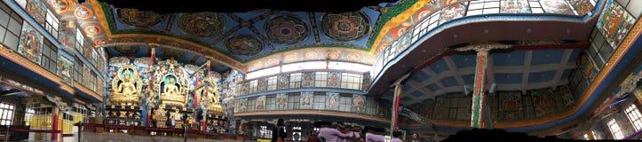 Inside Golden Temple, Namdroling Monastery Royalty Free Stock Photos