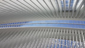 Inside view of New World Trade Center of New York. World Trade Center Transportation Hub, New York, America Royalty Free Stock Photos