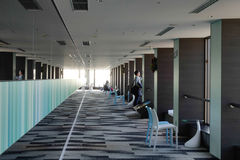 Inside view of the Observatory in WTC Buiding, Tokyo. Japan Royalty Free Stock Photos