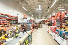Free Inside View Of A Home Depot Retail Store Royalty Free Stock Image - 107244846