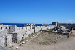 Free Inside View Of The Ottoman Fortress And Walls On The Island Of Bozcaada / Tenedos. Royalty Free Stock Photos - 185163218