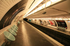 Inside view of Paris underground Stock Photo