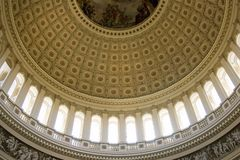 Inside view on the rotunda ceiling of US Capitol Royalty Free Stock Photos