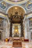 Inside view of Saint Peter's Basilca Royalty Free Stock Photos