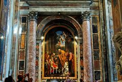 Inside view of Saint Peter's Basilica on May 31, 2014 Royalty Free Stock Photo
