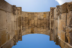 Inside view of Saintes germanicus roman arch. Inside view of the Germanicus roman arch of the ville of Saintes in french charente maritime region Stock Photos