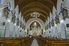 Inside view of Santhome Basilica cathedral church,Chennai,Tamil Nadu,India Royalty Free Stock Images