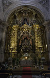 Inside view of Segovia Cathedral Stock Images