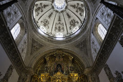 Inside view of Segovia Cathedral Royalty Free Stock Photos
