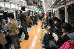 Inside view of Seoul Metropolitan Subway Royalty Free Stock Images