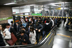 Inside view of Seoul Metropolitan Subway Royalty Free Stock Image