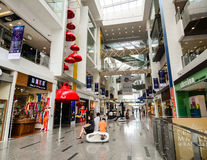 Inside view of the shopping mall in Clark Quay, Singapore Stock Image