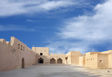 Inside view southern portion of Riffa fort Bahrain Stock Photo