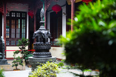Inside view of temple shanghai Royalty Free Stock Photography