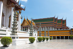 Inside view of temple Wat Suthat, Bangkok, Thailand Stock Images