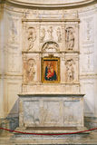 Inside view of thInterior of Siena Cathedral in Tuscany Royalty Free Stock Photography