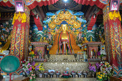 Inside view of Tibetan temple in Gaya, India.  Stock Image