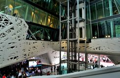 Inside view to the Italy pavilion of the EXPO Milano 2015. Royalty Free Stock Photos