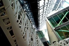 Inside view to the Italy pavilion of the EXPO Milano 2015. Royalty Free Stock Photo
