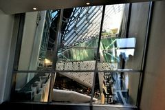 Inside view to the Italy pavilion of the EXPO Milano 2015. Stock Photos