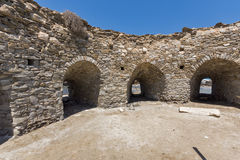 Inside view of Venetian fortress in Naoussa town, Paros island, Greece Stock Photo