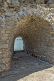 Inside view of Venetian fortress in Naoussa town, Paros island, Greece Stock Image