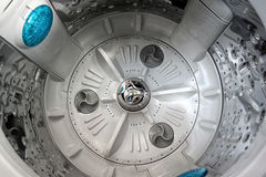 Inside view into washing machine. Stock Photo