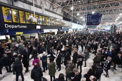 Inside view of Waterloo Station Stock Photography