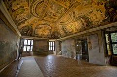 Inside Villa d'Este. The dazzling iterior of villa d'Este. Tivoli Royalty Free Stock Photos
