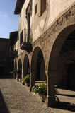 Inside villlage of Santa Pau, Garroxa, Girona, Royalty Free Stock Photos