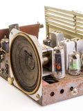 Inside a vintage AM FM radio Royalty Free Stock Photography