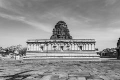 Inside Vitala temple - Hampi - Monochrome royalty free stock photo