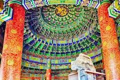 Inside w Cesarskiej krypcie niebo na powikłanej świątyni Hea Zdjęcie Stock