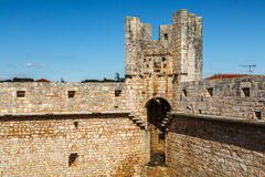 Inside wall or fortress ruin Royalty Free Stock Images