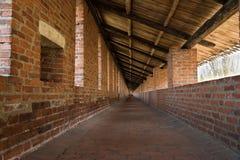 Inside of wall in Nizhny Novgorod Kremlin Royalty Free Stock Image