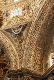 Inside wall of Santo  Domingo church in Mexico Stock Photo