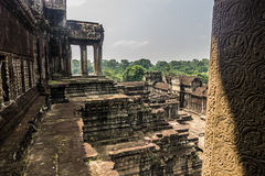 Inside the walls of Angkor Wat, Cambodia Stock Images