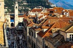 Inside the walls of Dubrovnik, Croatia stock image