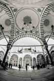 Inside the walls of a traditional Turkish Mosque Stock Photo