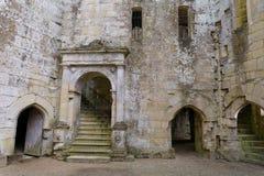 Inside Wardour Castle. Stunning doorways and windows at Old Wardour Castle , Wiltshire, UK Royalty Free Stock Photos