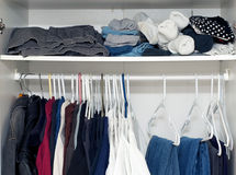 Inside wardrobe Stock Photography