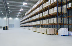 Inside warehouse royalty free stock photography
