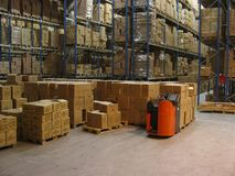 Inside a warehouse Stock Photography