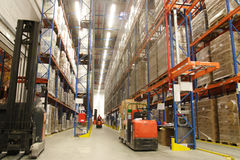 Inside of warehouse Stock Photo