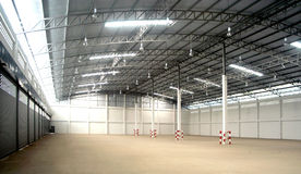 inside warehouse στοκ εικόνες