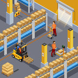 Inside Warehouse Illustration Royalty Free Stock Photography