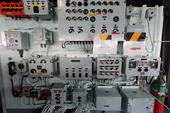 Inside of warship, Japan Maritime Self-Defense Force Royalty Free Stock Photography