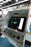 Inside of warship. KAGAWA, JAPAN - August 05, 2015; Aegis-equipped Destroyer JS SAMIDARE in Takamatu port, Inside of warship stock image
