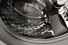 Inside of the washing machine drum Royalty Free Stock Photos