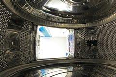 Inside washing machine royalty free stock images